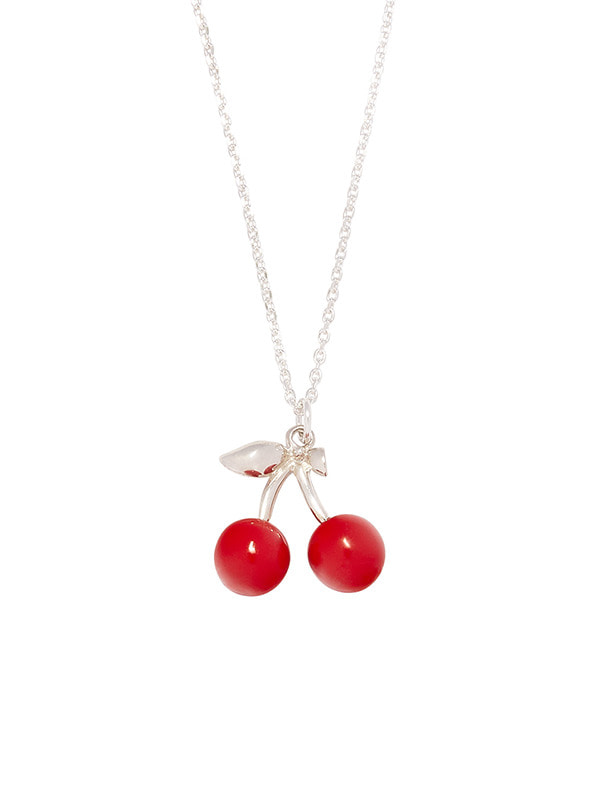 CHERRY NECKLACE GA [SILVER]