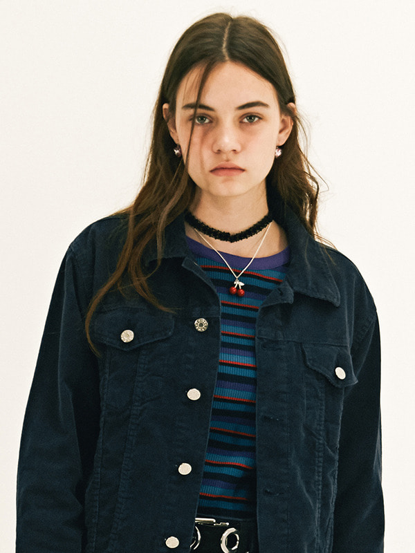 TRUCKER JACKET GA [NAVY]