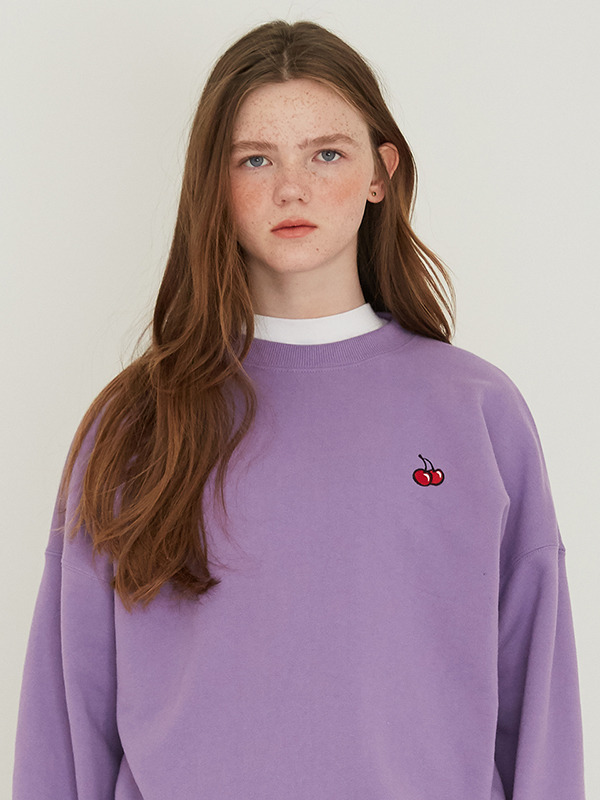 SMALL CHERRY SWEATSHIRT HS [PURPLE]