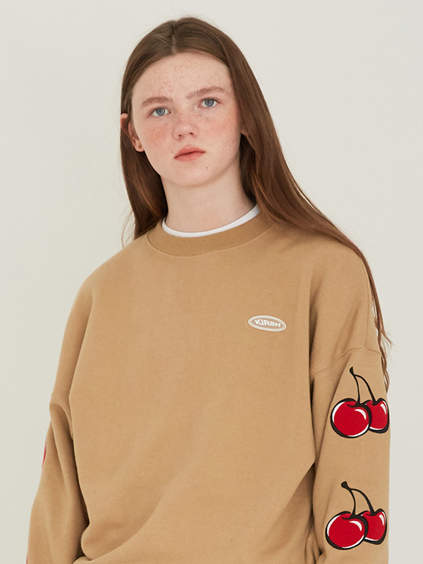 MIDDLE CHERRY SWEATSHIRT HS [BEIGE]