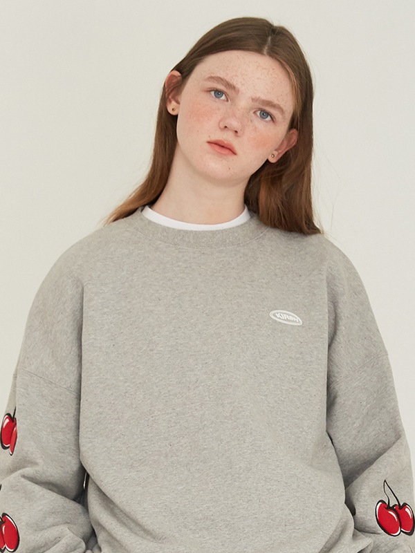 MIDDLE CHERRY SWEATSHIRT HS [GREY]