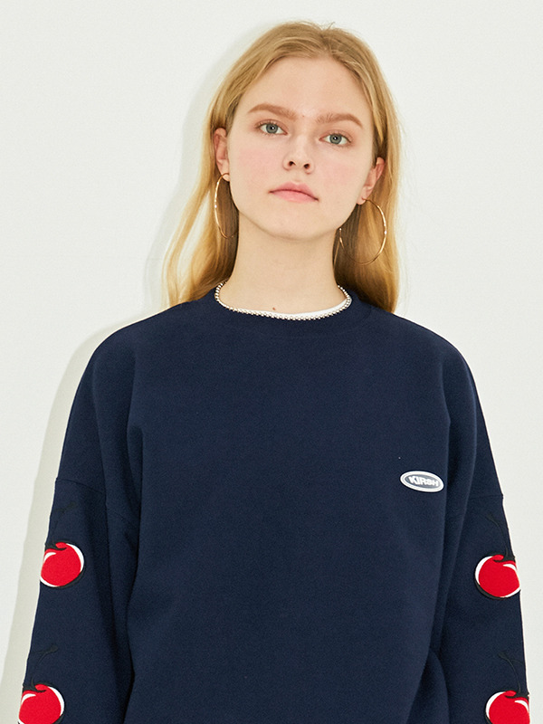 MIDDLE CHERRY SWEATSHIRT HS [NAVY]