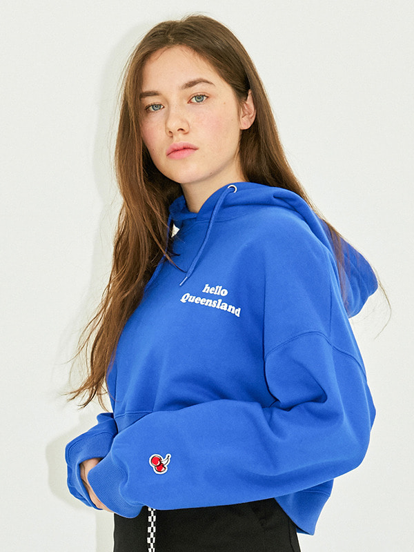 QUEENSLAND CROPPED HOODIE HS [BLUE]