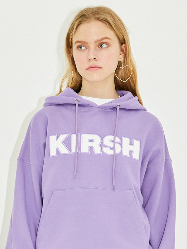KIRSH LOGO HOOD HS [PURPLE]