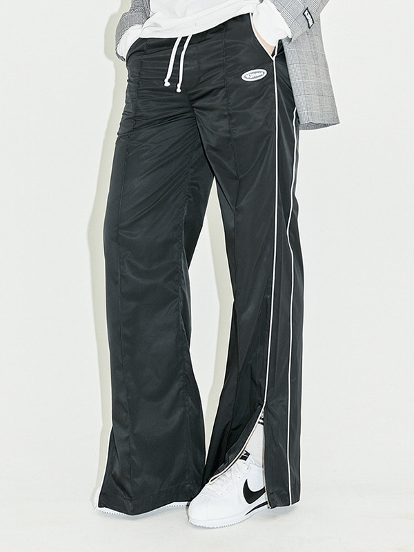 PIPING TRACK PANTS HS [BLACK]