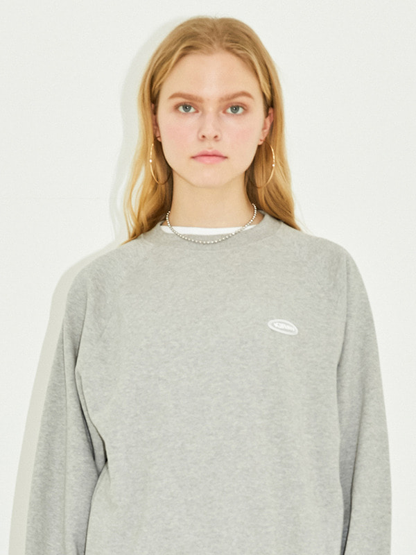 CIRCLE LOGO SWEATSHIRT HS [GRAY]