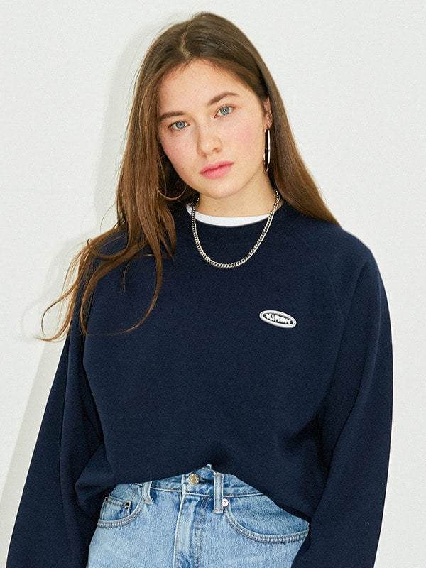 CIRCLE LOGO SWEATSHIRT HS [NAVY]