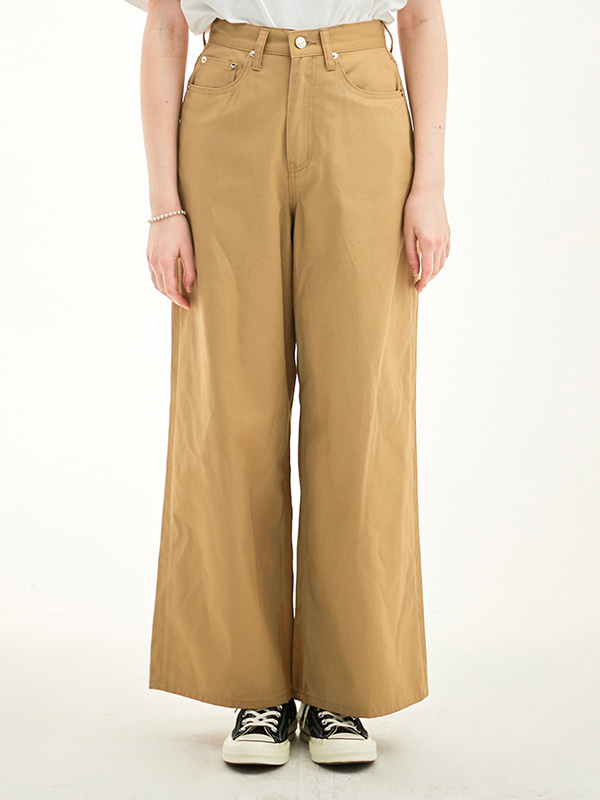 WIDE PANTS HS [BEIGE]