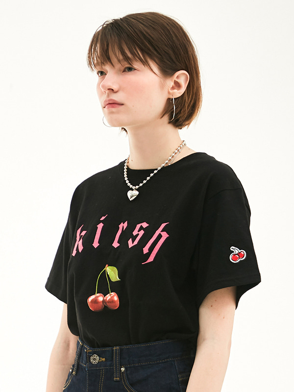 KIRSH CHERRY T-SHIRT HS [BLACK]