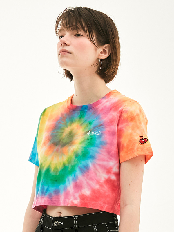 RAINBOW CROPPED T-SHIRT HS [RAINBOW]