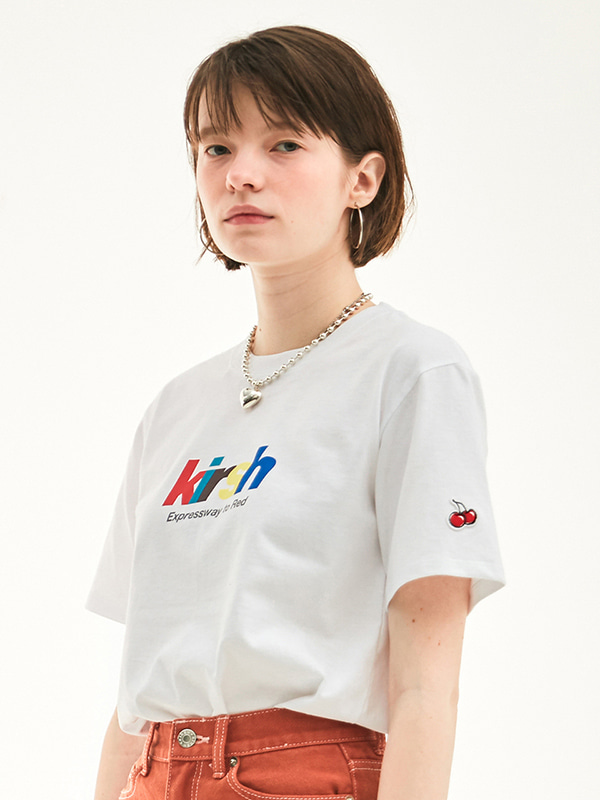 RAINBOW LOGO T-SHIRT HS [WHITE]