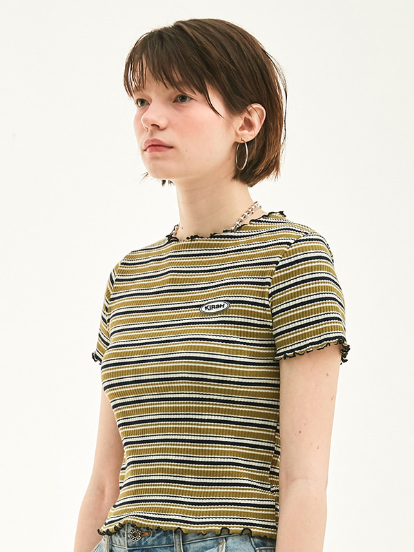 MERROW EDGE STRIPE T-SHIRT HS [GREEN]