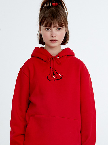 MIDDLE CHERRY HOODIE HA [RED]