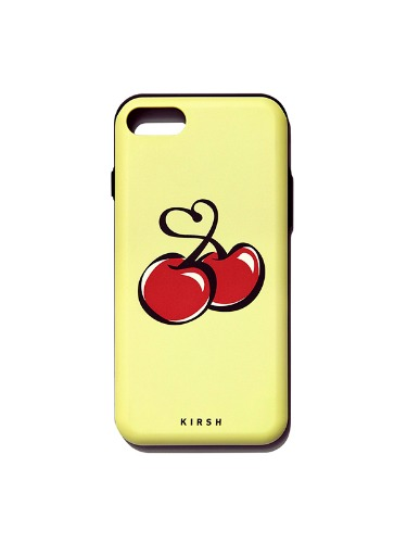 HEART CHERRY BUMPER PHONE CASE IS [YELLOW]
