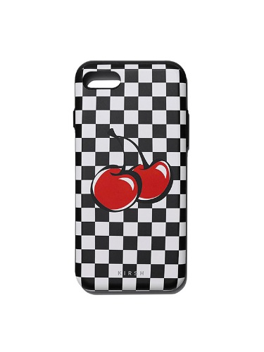 BIG CHERRY BUMPER PHONE CASE IS [BLACK]