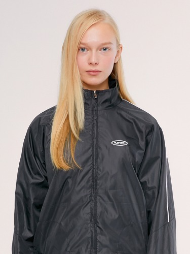 TRACK JACKET IS [BLACK]