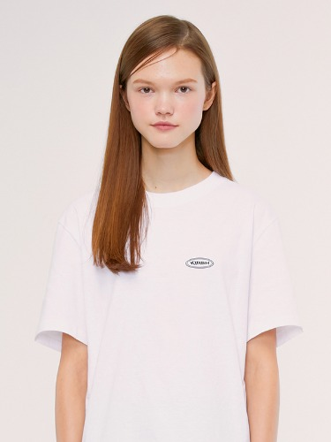 CIRCLE LOGO T-SHIRTS IS [WHITE]
