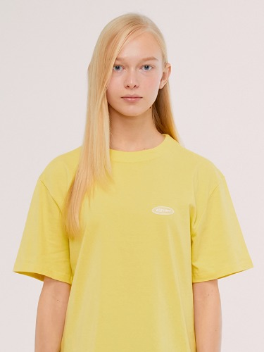 CIRCLE LOGO T-SHIRTS IS [YELLOW]