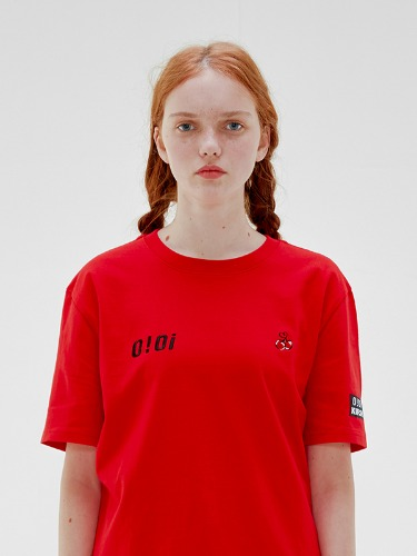 OIOI x KIRSH LOGO T-SHIRTS [RED]