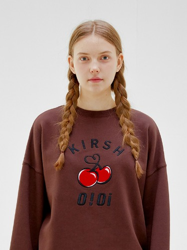 OIOI x KIRSH BIG LOGO SWEATSHIRTS [CHOCOLATE]