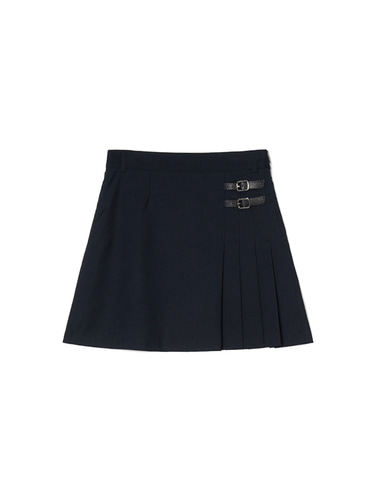 [BPS X KIRSH] HALF SKIRT IH [NAVY]
