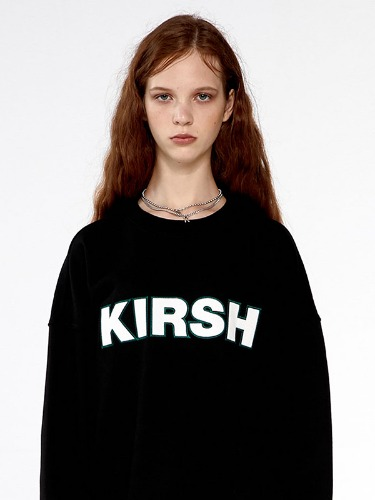 KIRSH STITCH LOGO SWEATSHIRTS  IA [BLACK]