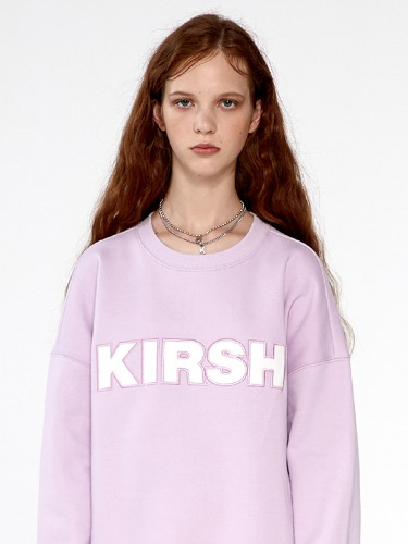 (9월17일 예약발송)KIRSH STITCH LOGO SWEATSHIRTS  IA [LIGHT VIOLET]