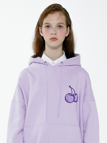 CHERRY TONE ON TONE HOODIE IA [LIGHT VIOLET]