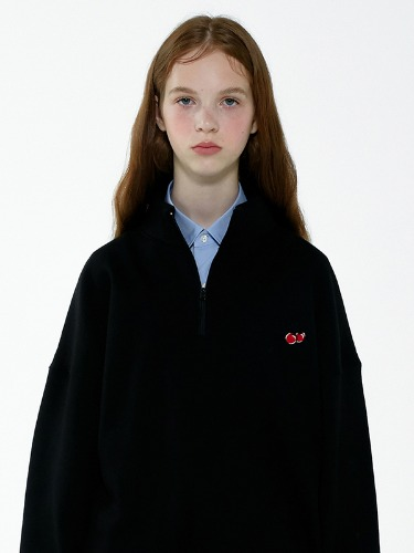 (8월26일 예약발송)SMALL CHERRY SWEATSHIRT IA [BLACK]