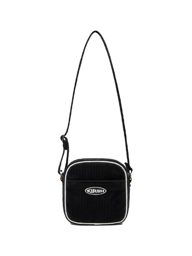 KIRSH POCKET CORDUROY MINI AIRLINE BAG IA [BLACK]