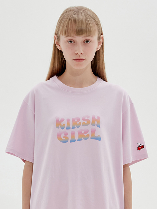 KIRSH GIRL GRADATION LOGO T-SHIRTS JS [LIGHT PINK]