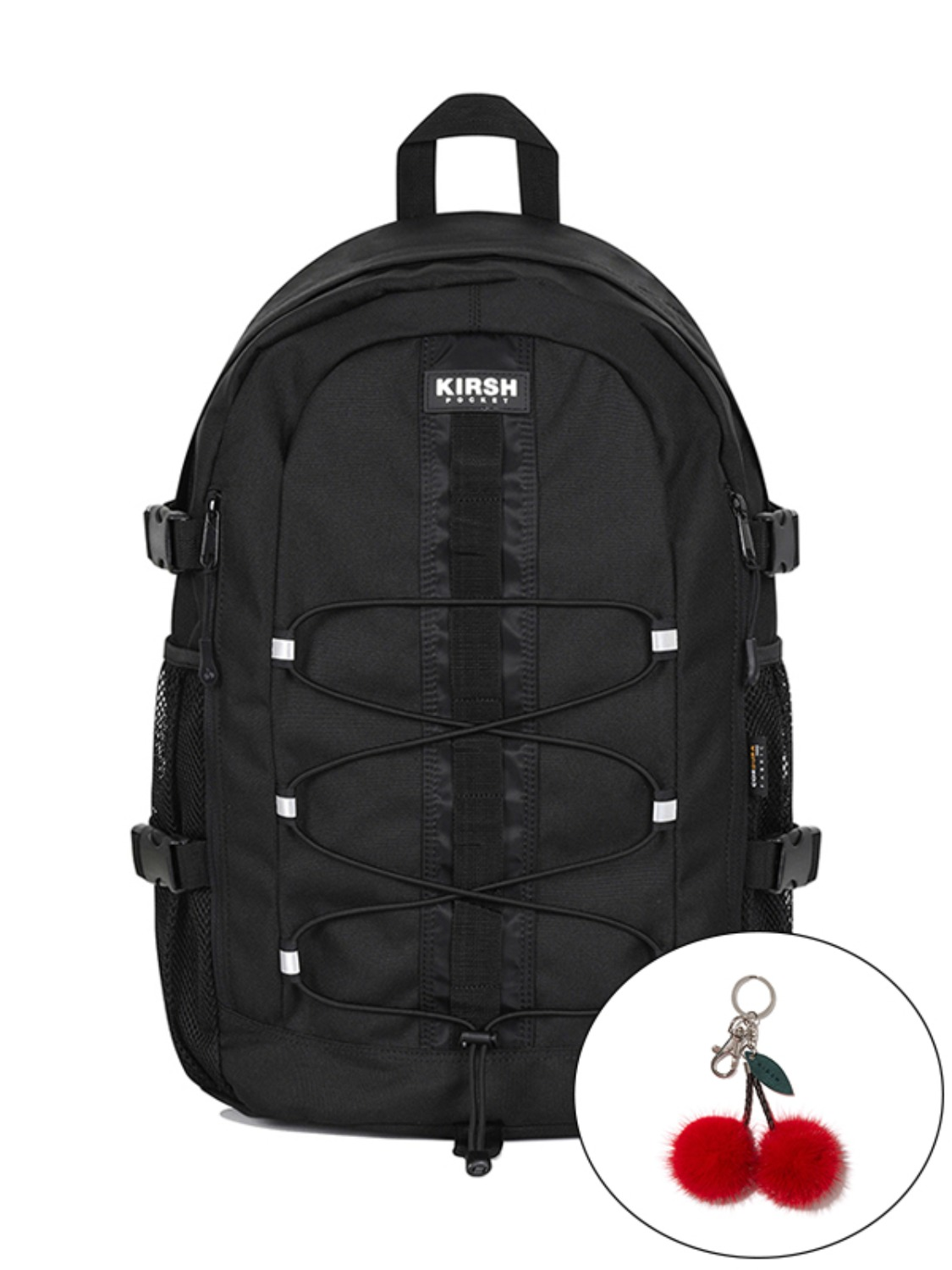 KIRSH POCKET STRING BACKPACK JA [BLACK]