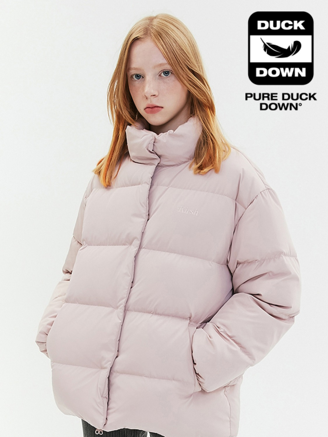 OVERSIZED DOWN PADDING JA [CORAL PINK]