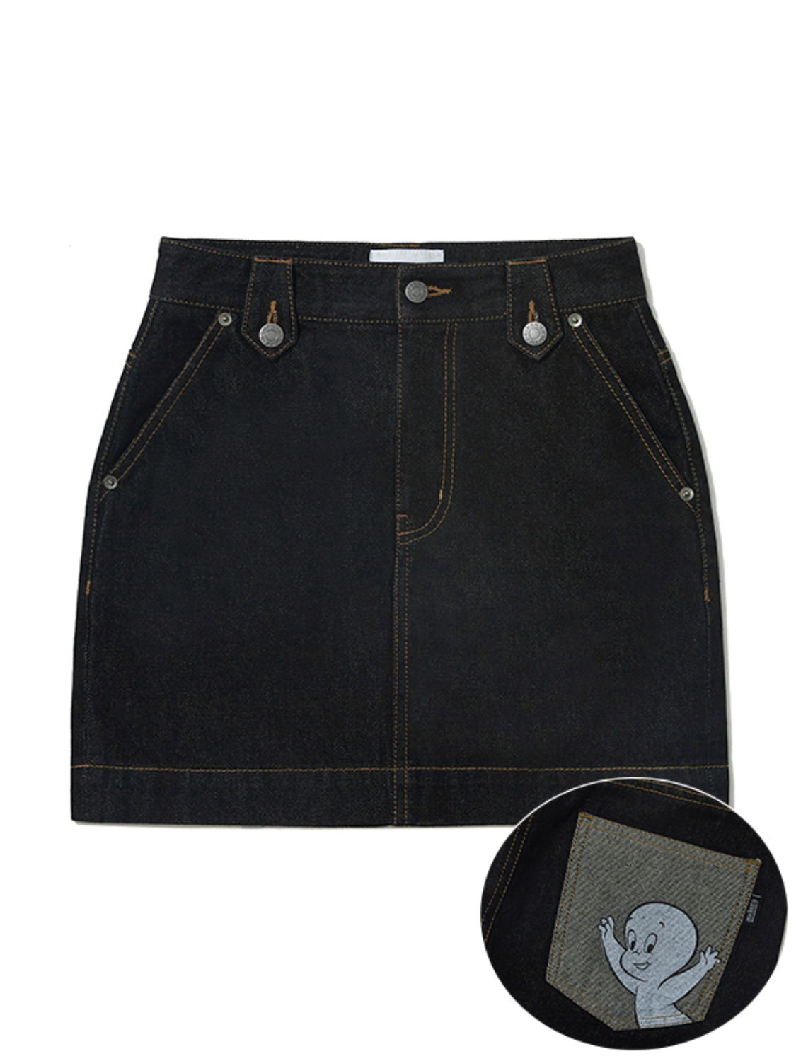 CASPER DENIM MINI SKIRT JA [BLACK]