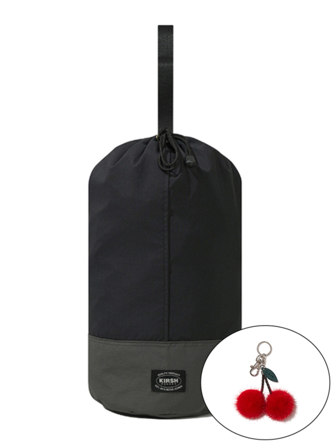 KIRSH POCKET NYLON GYM BAG KS [BLACK]