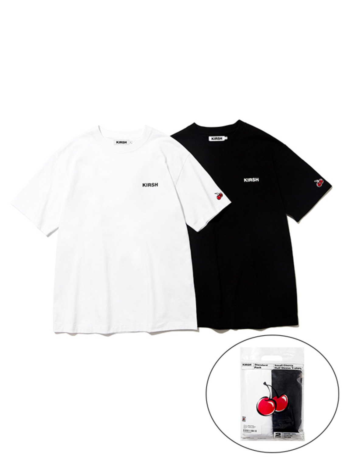 (4월 30일 예약발송)LOGO STANDARD T-SHRIT 2PACK KS [WHITE, BLACK]