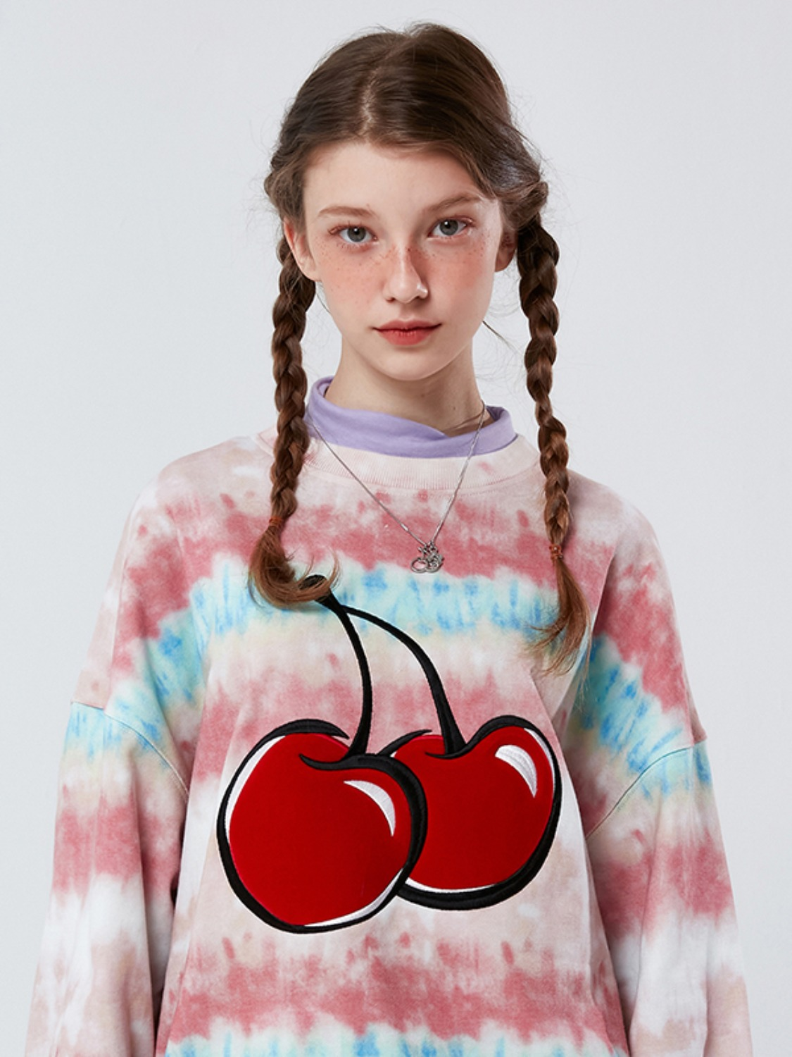 BIG CHERRY TIE DYE SWEATSHIRT KS [MULTI]