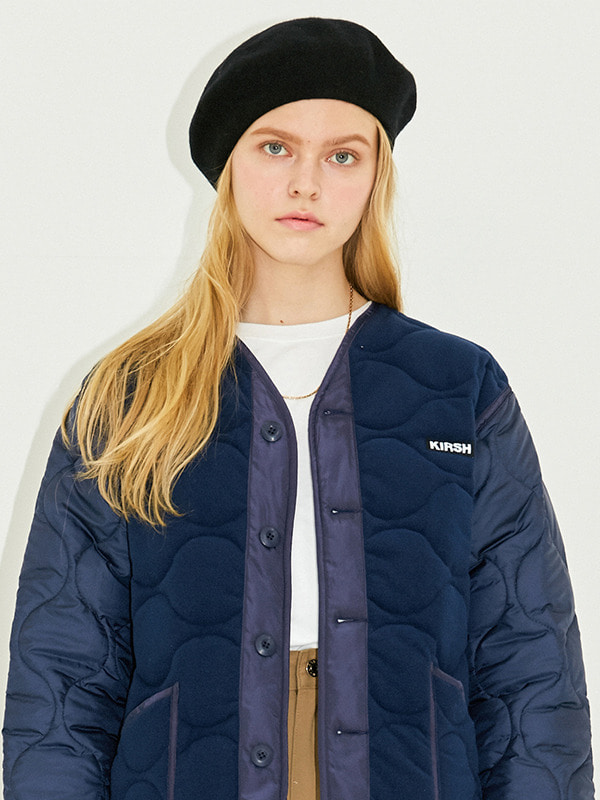 REVERSIBLE QULTED JACKET HS [NAVY]