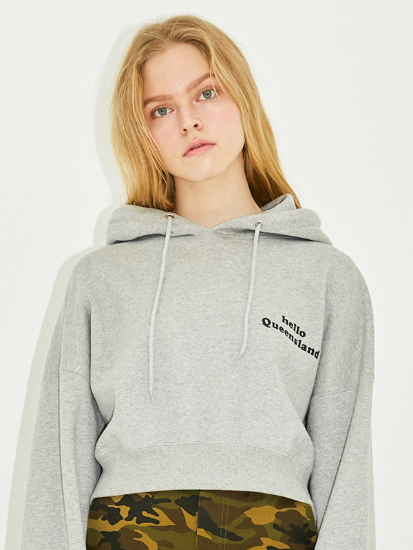 QUEENSLAND CROPPED HOODIE HS [GRAY]