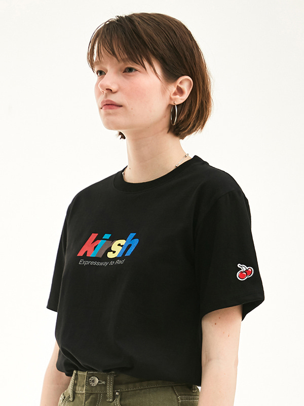 RAINBOW LOGO T-SHIRT HS [BLACK]