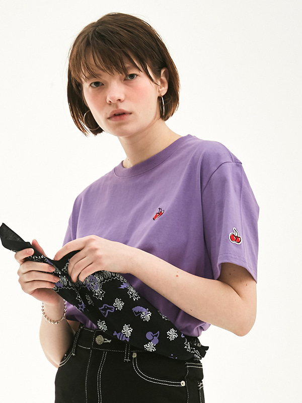 KIRSH STANDARD T-SHIRT HS [PURPLE]