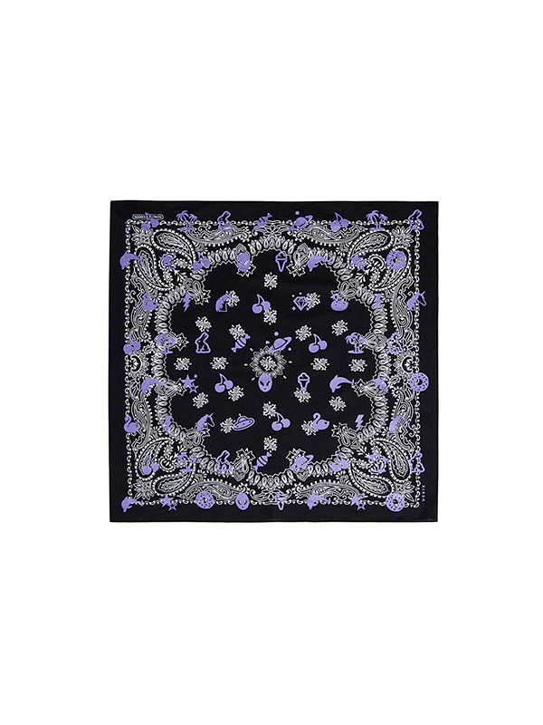 CHERRY PATTERN BANDANA HS [PURPLE]