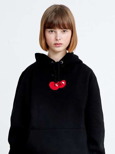 MIDDLE CHERRY HOODIE HA [BLACK]