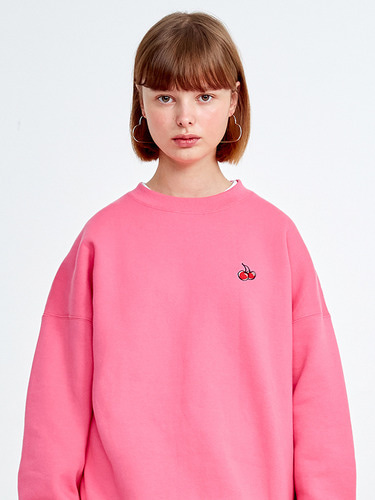 SMALL CHERRY SWEATSHIRT HA [PINK]