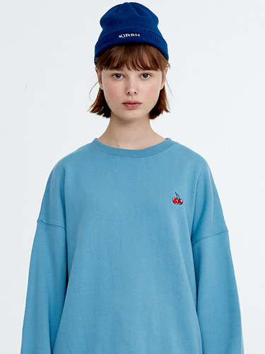 SMALL CHERRY SWEATSHIRT HA [BLUE]