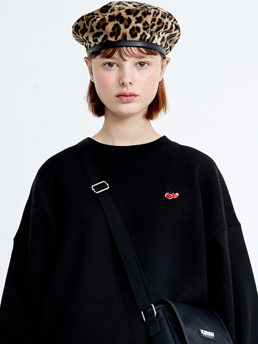 SMALL CHERRY SWEATSHIRT HA [BLACK]
