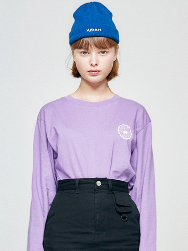 (10월 5일 예약배송)STAMP LONG SLEEVE HA [PURPLE]
