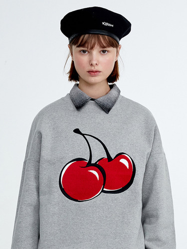 (11월 2일 예약배송)BIG CHERRY SWEATSHIRT HA [GRAY]