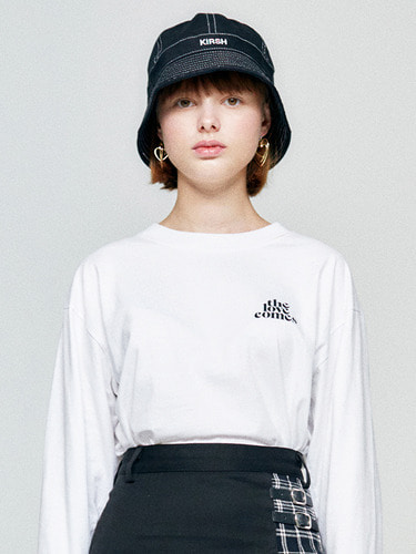 (10월 5일 예약배송)TLC LONG SLEEVE HA [WHITE]