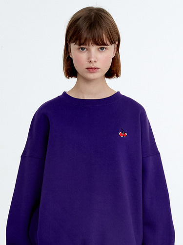 SMALL CHERRY SWEATSHIRT HA [PURPLE]